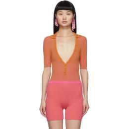 Jacquemus Orange and Pink Le Body Yauco Bodysuit 201KN33-201 51451