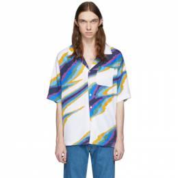 Missoni White Printed Short Sleeve Shirt MUJ00048-BW007C