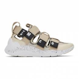 MCQ by Alexander McQueen Beige Tech Sandal 1.0 Sneakers 598117R2687
