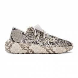 Giuseppe Zanotti Design Grey Snake Urchin Sneakers RM00018 84523