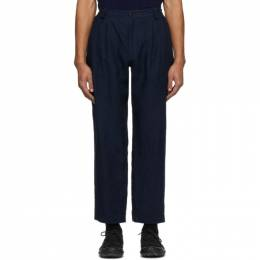 Blue Blue Japan Blue Linen Chambray Okura Trousers 700073611