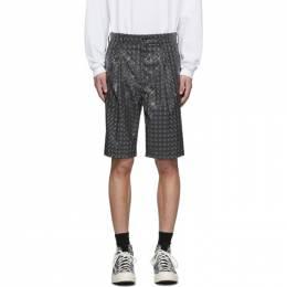 Doublet Grey Hologram Coating Shorts 20SS07PT117