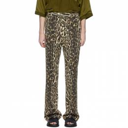 Dries Van Noten Brown and Black Leopard Trousers 20972-9067-101