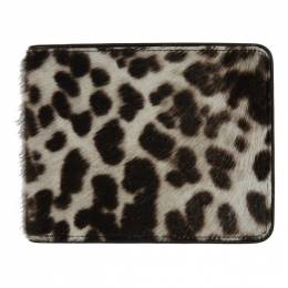 Dries Van Noten Off-White and Brown Animal Bifold Wallet 22106-351-005
