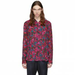 Dries Van Noten Red and Purple Floral Shirt 20767-9004-304