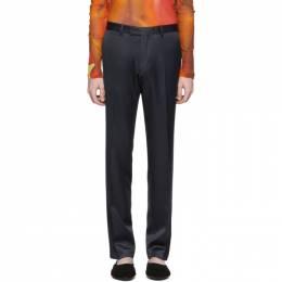Dries Van Noten Navy Satin Trousers 20917-9214-509