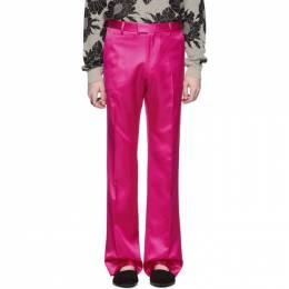 Dries Van Noten Pink Viscose Trousers 20972-9214-304