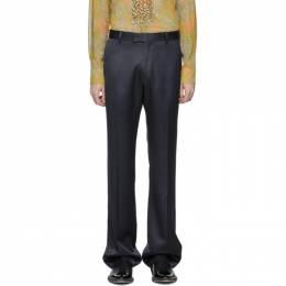 Dries Van Noten Navy Prowse Trousers 20972-9214-509