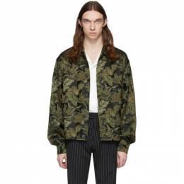 Dries Van Noten Khaki Jacquard Floral Jacket 20530-9339-606