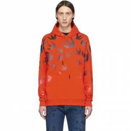 MCQ by Alexander McQueen Orange Swallow Hoodie 545412ROT42