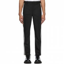 Neil Barrett Black and White Wool Piping Trousers PBPA 754N N003
