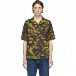 MCQ by Alexander McQueen Black and Yellow Yoke Billy Shirt 562501ROP07