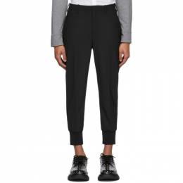 Neil Barrett Black Wool Cuffed Trousers PBPA 78SH N029
