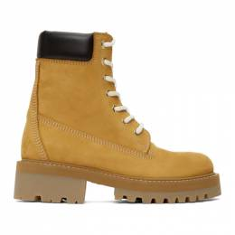 Vetements Tan New Trucker Boots SS20BO018