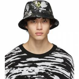 Marcelo Burlon County Of Milan Green Camouflage Bucket Hat CMLB006R20FAB0016159