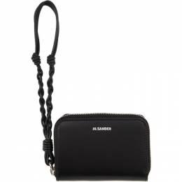Jil Sander Black Small Zip-Around Wallet JSPQ840053 WQS69110N