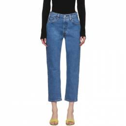 Levi's Blue 501 Original Cropped Jeans 36200-0073