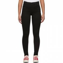 Levi's Black 720 High-Rise Super Skinny Jeans 52797-0000