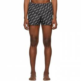 Vetements Black Logo Allover Swim Shorts SS20PA343