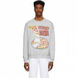 Moschino Grey Moschinos Pizza Sweatshirt 1727 0227