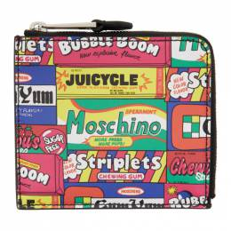 Moschino Multicolor Bubblegum Packaging Zip-Around Wallet 8120 8011