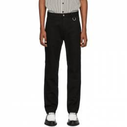 Ami Alexandre Mattiussi Black Gabardine Work Trousers E20HT641.230