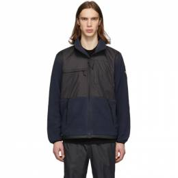 The North Face Navy and Black Fleece Denali Jacket NF0A381M