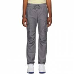 John Elliott Grey Sateen Cargo Pants F002N0813A