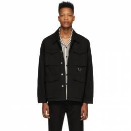 Ami Alexandre Mattiussi Black Gabardine Multi Pocket Jacket E20HOW510.230