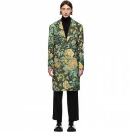 Givenchy Green Floral Over Coat BMC03L12SV
