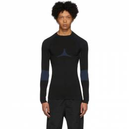 Givenchy Black and Blue Athletic Sweater BM90CJ40AM
