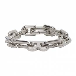 Balenciaga Silver B Chain Bracelet 599334-TZ99S-0926
