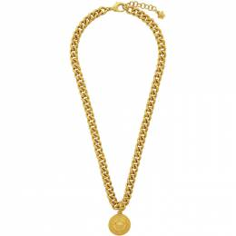 Versace Gold Laurel Medusa Pendant Necklace DG18013 DJMT