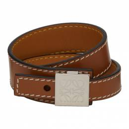 Loewe Tan Thin Bracelet 110.10.023