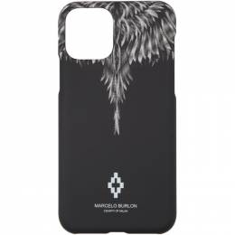 Marcelo Burlon County Of Milan Black and White Sharp Wings iPhone 11 Pro Case CMPA015S20MAT0031001