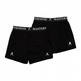 Mastermind World Two-Pack Black Silk Logo Boxer Briefs MW20S04-TR001