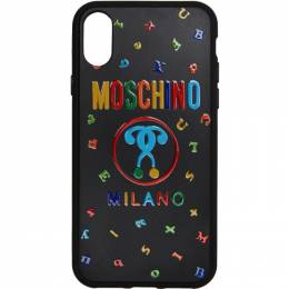 Moschino Black Max Magnets iPhone X Case 7903 8302