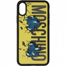 Moschino Yellow Monster Hands iPhone XS Max Case 7907 8310