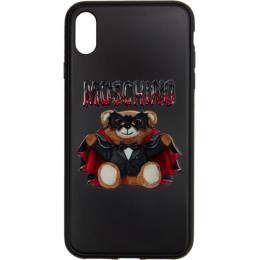 Moschino Black Teddy Bear iPhone XS Max Case 7902 8302