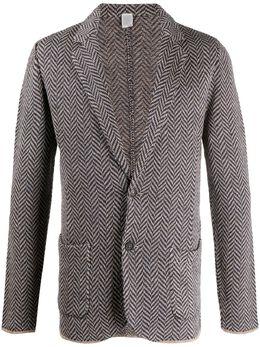 Eleventy пиджак с узором в елочку A76GIAA05MAG0A045