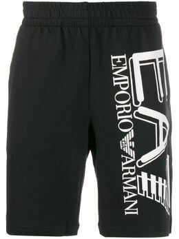 Ea7 Emporio Armani спортивные шорты с логотипом 3HPS59PJ05Z