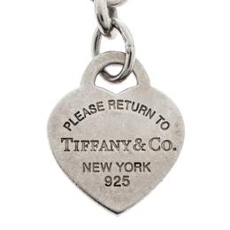 Tiffany & Co. Sterling Silver Heart Tag Key Ring 322819