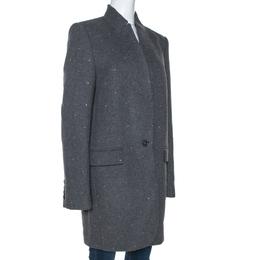 Stella McCartney Grey Wool Embellished Coat L 273608