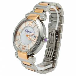 Chopard White Mother Of Pearl Imperiale Steel & Rose Gold Watch 40MM 273663
