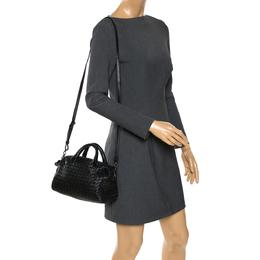 Bottega Veneta Black Intrecciato Leather Crossbody Bag 273355