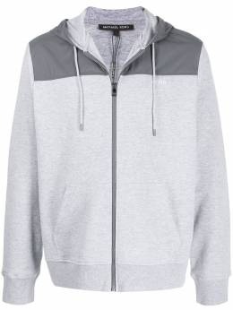 Michael Kors Collection logo printed zipped hoodie CR95J3X5MF