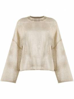 See By Chloe sheer linen jumper CHS20UMP11540
