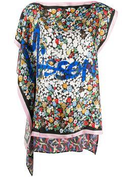 M Missoni блузка асимметричного кроя с логотипом 2DJ001002W004F