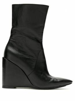 Reinaldo Lourenco pointed toe wedge boots 02170053