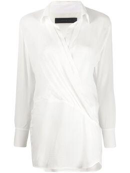 Federica Tosi блузка в клетку с запахом FTE20BL0040GG0018